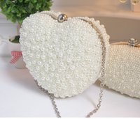 Wholesale 2015 New Arrival Mini Bridal Hand Pears Bags Sweetheart Bags Dinner Bags Fashion Modern Evening Bags cm cm Hear Shaped