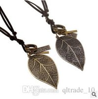 american racing alloys - 200pcs LJJC2540 New Arrival Vintage Necklace Alloy Leaves Key Racing Car Egyptian Masks Pendent Casual Hiphop Style Leather Sweater Necklace