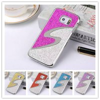 bling cell phone case - Samsung Galaxy s6 edge Case Luxury Bling Glitter Shining Chrome PC Duable Colors Case for G9250 cell phone Cases Brilliance Hard Back Cover