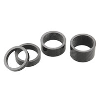 Wholesale 1set Carbon Fiber Headset Fork mm Washer Spacer kit quot Stem Road Bike Black Durable Useful High Quality