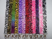animal print lanyards - Hot Sale Mixed Animal Leopard Zebra Cheetah Purple Pink Print Lanyards Id Badge Holder Keychain