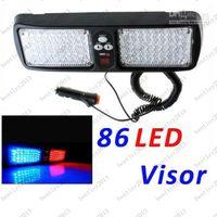 Wholesale 86 LED Red Blue White LED Car Truck Visor Strobe Flash Emergency Light Panel Warning Lighting