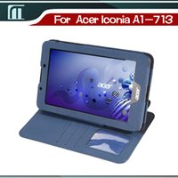 acer photo - HOT New A1 A1 Stand PU Leather Cover Case For Acer Iconia A1 HD A1 HD Tab Case with Card Photo Slot