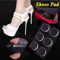 Wholesale New Foot Care Silicone Round Shoes Pad High heel Gel Insole Insert Cushion Stick Anywhere to protect foot from hurt pack
