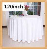 Wholesale 120 Inch Round Polyester Table Cloths pc Wedding Favors Tablecloth Cover