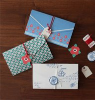 Wholesale 5 quot x quot Vintage Card Envelope Set with Gift Tags Creative Gift Envelopes