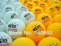 Wholesale HUIESON stars table tennis balls for table tennis robot training balls Match balls ping pong balls surpass dhs double fish