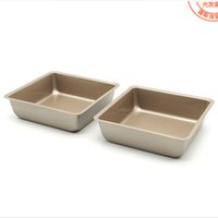 Wholesale USA Inch Small Baking Pans Square Food Grade Cakes Bread Ovenware Cake Bake Pan Dishes FDA Bakeware Loaf Dish Comal