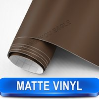 adhesive aluminum sheet - Brown Matte Vinyl m car styling self adhesive tint stickers car tuning bubble free protective film Size m Fast Shipping