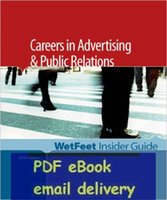 advertising careers - Careers In Advertising amp Public Relations Editon WetFeet Insider Guide