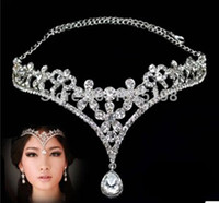 rhinestone bridal jewelry - Fashion Silver rhinestone Head Chain Headpiece wedding bridal tiaras jewelry for Wedding Hairbands hair accessories