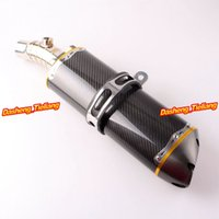 aftermarket mufflers - For Kawasaki ER6N Exhaust Muffler Silencer Stainless Steel Genuine Carbon Fiber Aftermarket Top Quality Parts order lt no track