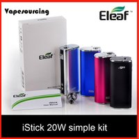 battery companies - Original Eleaf iStick W Mod iStick mah VV VW Battery With OLED Screen Simple Pack from vapesourcing company