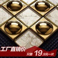Wholesale Jasmine gold hat crystal glass mosaic backdrop Entrance Bar Continental golden puzzle tile