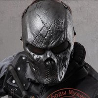 airsoft protection mask - Black God Tactical Masks Motorcycle Hunting Halloween Outdoor Military Wargame Paintball Airsoft Skull Protection Full Face Mask