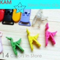 Wholesale 50 Mam Baby Dummy Clips Pacifier T Clip Style KAM Plastic Colors mm plastic clip rings