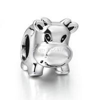 bead jewelry design ideas - Genuine Cow Animal ideas Design Fashion Style Sterling Silver European Bead Charm Girls Jewelry For Snake Bracelet Chain