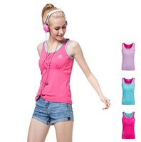Wholesale 2015 Brand New Sports Gym Tank Tops for Women Sweat Absorbing Quick Drying Wicking Sleeveless Vest Colors Plus Size