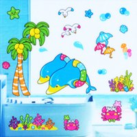 live fish - 2015 Cute Dolphin Fish Sea Mural Wall Sticker Removable Vinyl Decal Kids Home Decor