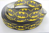 batman ribbon - yards quot mm black Batman Grosgrain Ribbon Super Hero Ribbon Batman Logo Grosgrain Ribbon