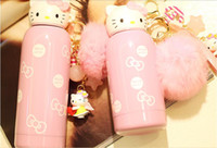 Wholesale Hellokitty vacuum cup stainless steel cute kt cat head vacuum cup women s child tumbler water cup water glass