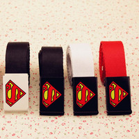 Wholesale Superman Belt Sale Kids Belt Boys Girls Braided Belts New Childrens Korean Wide Belt Children Accessories Fashion Belt Lovekiss C22025
