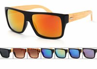Wholesale 7 Colors UV400 Polarizing Full Frame Vintage Mens Women Bamboo Wooden legs Glasses Fashion Summer Glasses Sunglasses
