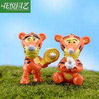 baseball crafts - mini microlandschaft cute craft Moss Micro Landscape Decoration baseball tiger doll ornaments DIY materials