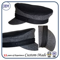 artificial grass china - China factory custom wool Soviet Military NAVY caps ADMIRAL Uniform Visor Hat