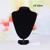 Wholesale Black Bust Neck Forms Stand Necklace Pendants Jewelry Display