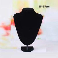al por mayor collar destaca bustos-Negro Busto Cuello Forma Colgante Collar Joyas Colgantes
