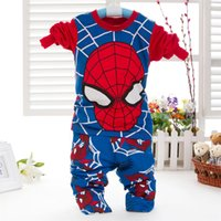c037 - 2015 new Children boy Spider Man outfit super hero Pajamas set long sleeve top and pant set Autumn baby clothing C037