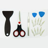 Wholesale PD1204 scissors blade knife to pry piece sets of mobile phone film dedicated Tool Kit