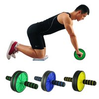 Wholesale Creative New Dual Abdominal Wheel Roller With Mat For Exercise Fitness Equipment