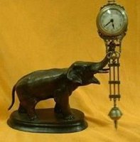 antique elephant statue - Beautiful pendulum clock bronze elephant statue
