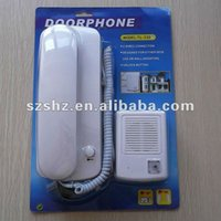 Wholesale V cheap price wired audio doorbell door phone high quality audio intercom system with unlock function