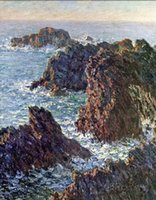 belle point - Claude Monet s oil painting for Study Room custom size Rock Points at Belle Ile c hand painted on linen