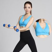 Wholesale Stretch Seamless Sport Bra Fitness Top V Neck Padded Athletic Vest Women s Running Keep Fit Costume OS702