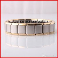 african energy - Titanium Ge Magnetic power Bracelet bangle gold Energy power bracelet Energy Wristband women men radiation protection jewelry