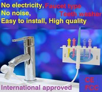 Wholesale Portable household faucet oral Irrigator teethwash apparatus for natural type teeth whitening and cleaning