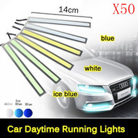 Wholesale LED Ultra Bright W cm Silver Shell Daytime Running light Waterproof COB Day time Lights LED Car DRL Driving lamp