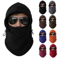 Wholesale Hot Sales Fleece Winter Balaclava Swat Ski Motorcycle Neck Face Mask Hood Hat Helmet Cap Cycling Caps FX245