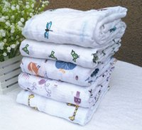Wholesale Free Fedex Aden Anais Bamboo Muslin Cotton Newborn Baby Bath Towel Aden And Anais Swaddle Blankets Multi Designs Functions In Stock