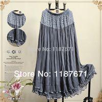Cheap hot 2014 spring long design lace tulle Skirts expansion skirt gauze bust skirt full Skirts elegant beach Skirts 8 color order<$15 no trackin