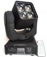 Livraison gratuite Professional LED ZOOM lavage léger faisceau lumineux de la tête 4X12w éclairage de la scène RGBW 4in1 son contrôle AVEC TÉLÉCOMMANDE