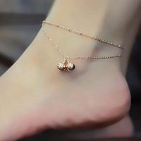bell fashion shoes - Fashion Barefoot Anklets Sandals Foot Chain Jewelry Trendy Rhinestone Zinc Bell Anklets For Women Dangling Shoe Chain