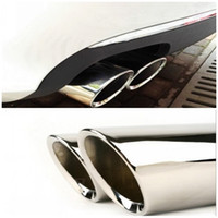 Wholesale 2PCS set Stainless Steel Chrome Exhaust Tips Fit VW Volkswagen GOLF MK7