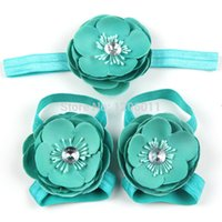 Wholesale NEW BABY camellia flower Barefoot Sandals Baby Toddler flower sneakers set pairs