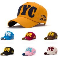 Wholesale New Fashion Embroidery NYC Ball Caps Adult Casual Street Wear Adjustable Baseball Cap for Woman New York City Team Major
