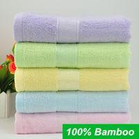 towel wrap - 70 cm Bamboo Fiber Bath Towel Bulk Beach towel Spa Salon Wraps Terry Towels cheap bulk towel toalha